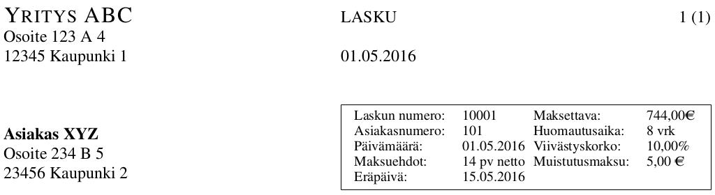 Nikos Project Corner Finnish Invoice Template - Invoice header template